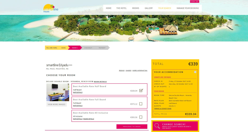 smartline Eriyadu - Booking Engine
